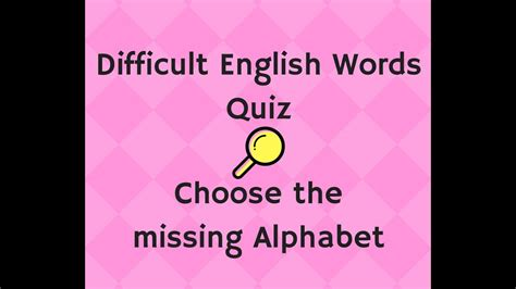 quiz questions youtube english quiz questions general knowledge difficult words
