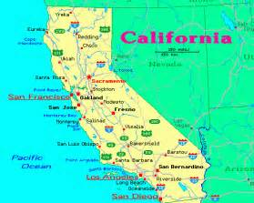 map of california state deboomfotografie