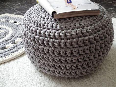 crochet pouf ottoman gray crochet pouf crochet floor cushions ottoman eco