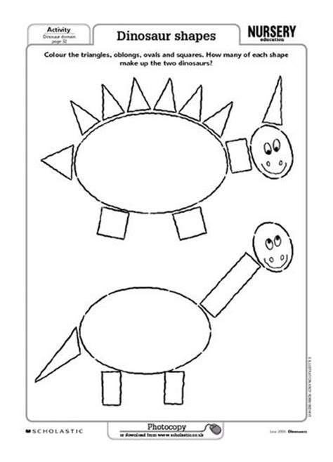 free printable dinosaur shapes 18 best images about dinosaur on pinterest