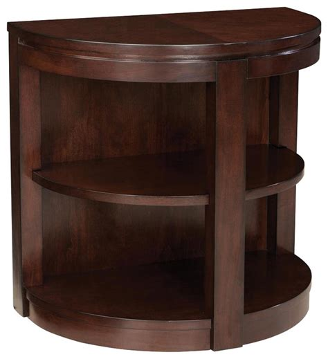 Half Moon Side Table Standard Furniture Half Moon Chairside Table In Cherry Traditional Side Tables And