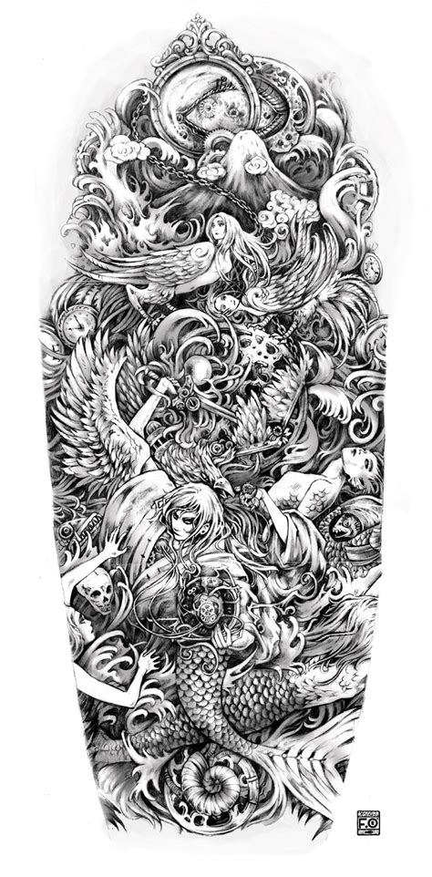 full sleeve tattoo designs drawings sleeve sketch new tattoos