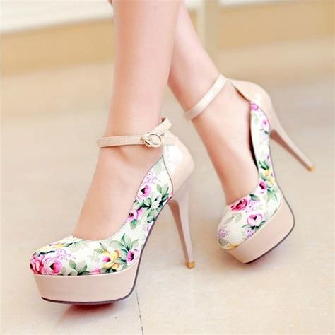 imagenes zapatos hermosos womens fashion platform high heel ankle strap pumps shoes