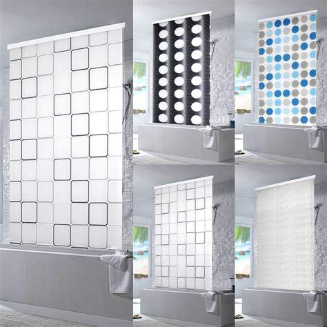 duschvorhang dusche halb kassetten duschrollo duschvorhang dusche rollo