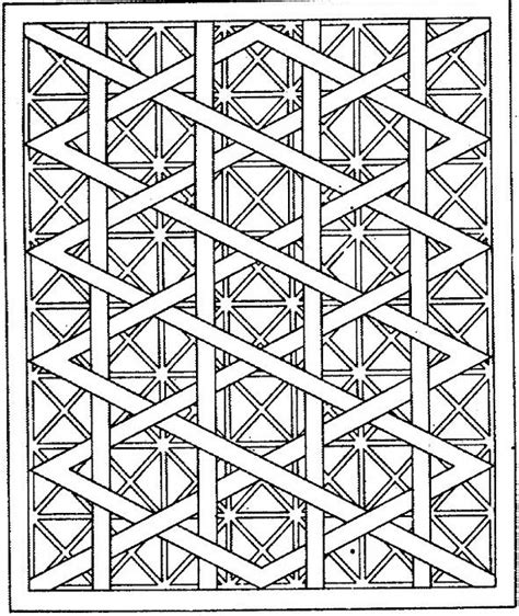 Geometric Shapes Coloring Page Free Printable Geometric Coloring Pages
