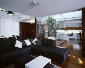 schwarzes sofa modernes wohnzimmer mit dunklem sofa einrichten 55 ideen