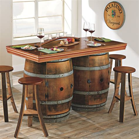 whiskey barrel chairs dining room awesomely creative whiskey barrel furniture