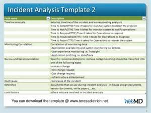 incident summary report template incident analysis procedure and approach
