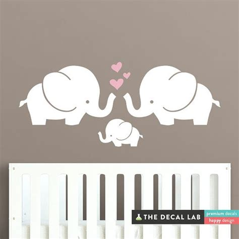 Best Wall Decals For Nursery Best 25 Elephant Wall Decal Ideas On Elephant Decorations Pink Elephant Nursery