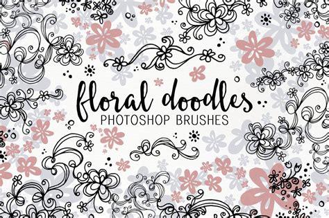 doodle flower photoshop brushes floral doodle photoshop brushes brushes creative market