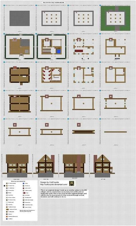 Minecraft Houses Plans Small Inn Mk3 By Coltcoyote Deviantart On Deviantart