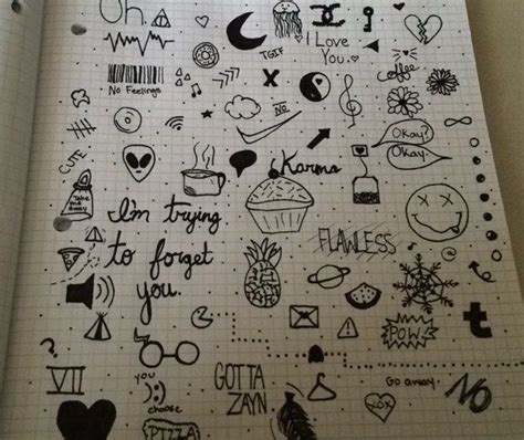 doodle notebook ideas doodles draw drawing doodles journal