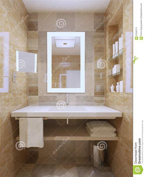 lavandino bagno lavandino in bagno contemporaneo illustrazione di stock
