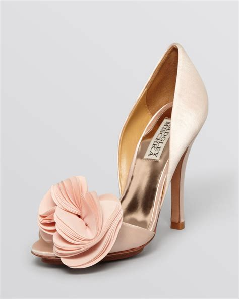 badgley mischka peep toe dorsay evening pumps randall high