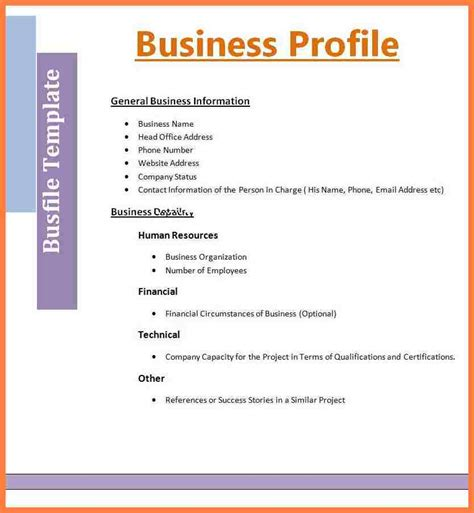 small business company profile template 3 sle of sole proprietorship company profile company