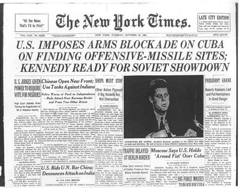 cuban missile crisis thesis cuban missile crises new york times on cuban missile