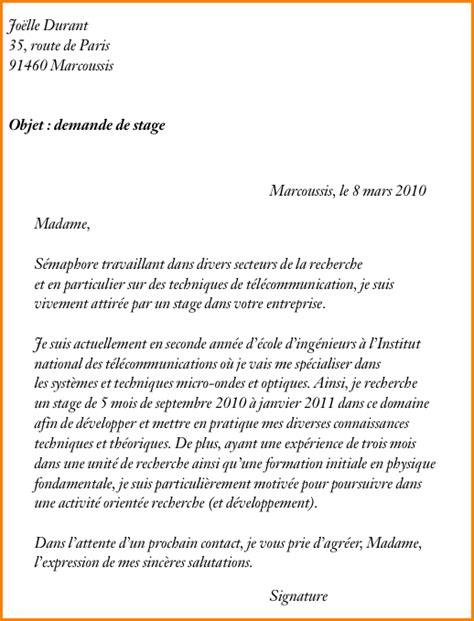 Lettre De Motivation Lycée Terminale 4 Lettre De Motivation Pour Un Lyc 233 E Exemple Lettres