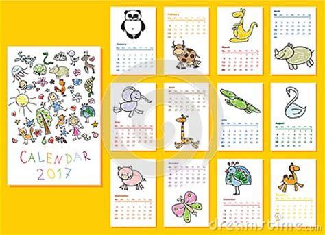 Calendario Animales Calendario 2017 De Los Animales Garabato Ilustraci 243 N