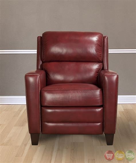 red leather reclining chair parker living dickinson lipstick red leather reclining