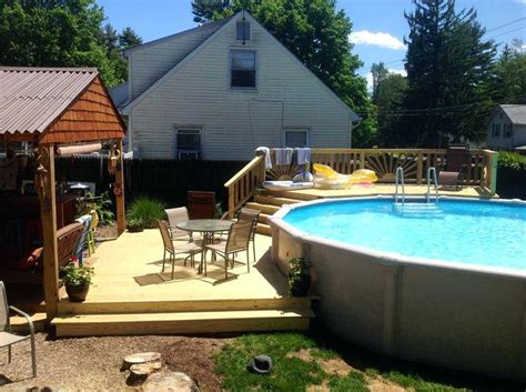 Backyard Swimming Pools Above Ground Backyard Landscaping Above Ground Pool Bullyfreeworld