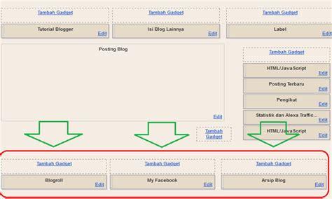 membuat footer blogspot denidyaadityara blogspot com cara membuat 3 kolom widget