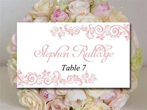 reception place cards template wedding place card template printable card