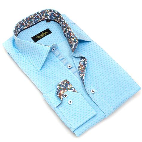 blue pattern button up soriano button up blue dimond pattern s dolce