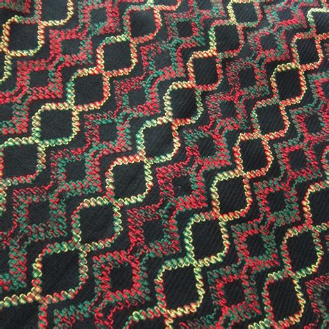 70s fabric vintage 60s 70s fabric black colorful woven designs novelty