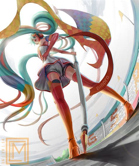 F Anime Racing by Racing Miku 2016 Speed Paint By Kumagzter On Deviantart