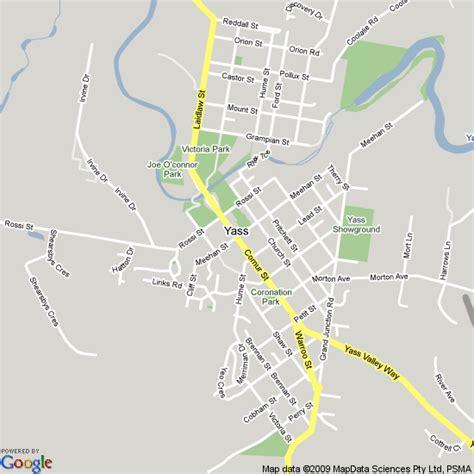 map  yass nsw hotels accommodation