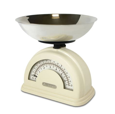 salter vintage style mechanical kitchen scale with bowl