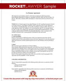 Free Tenancy Agreement Template Uk co tenancy agreement form co tenant contract sample