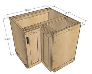 Plans For Building Kitchen Cabinets by Ana White Build A 36 Quot Corner Base Easy Reach Kitchen