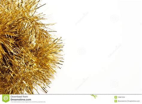 yellowing on white tinsel tinsel stock images image 19987304