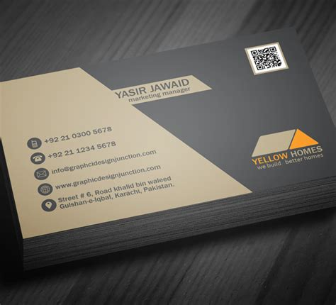 free real estate business card template psd freebies graphic design junction