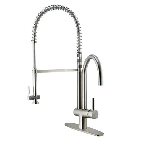 vigo single handle pull sprayer kitchen faucet with