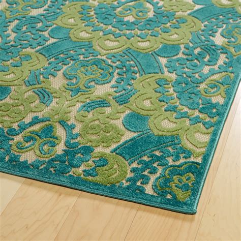 Five Seasons Lace Rug In Light Blue And Green And Blue Rug