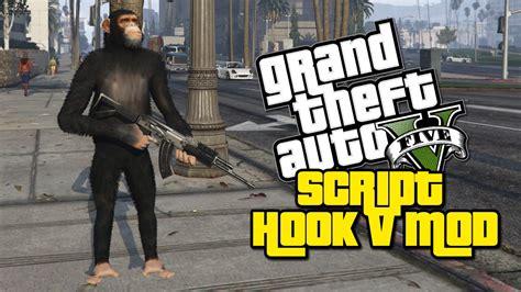 gta 5 mod script hook monkey with a gun gta v mod showcase gta v script