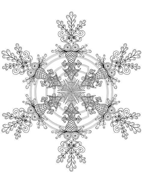 detailed snowflake coloring page 627 best mandalas to color images on pinterest printable