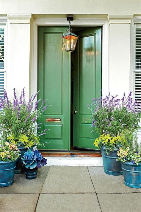 southern front doors front door decor the seven guest post green