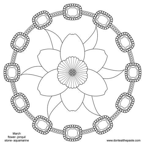 spring flower mandala pattern mandala free printable