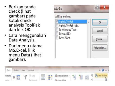 Memanfaatkan Excel Untuk Analisis Statistik By Syamsul Hadi analisis korelasi dan regresi dengan excel xsuk25