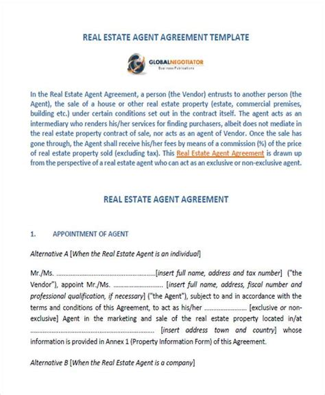 appointment letter real estate appointment letter format