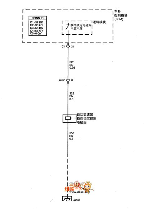 The 4T45E automatic transmission circuit of Shanghai GM