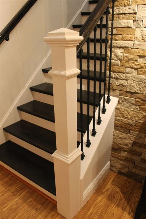 stair case step by step tutorial on how to remodel a carpeted