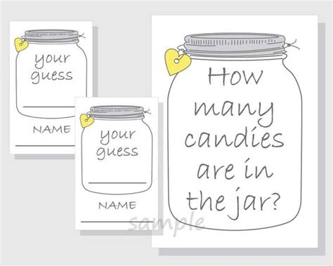 guess how many in the jar ideas christmas items similar to how many candies are in the jar printable jar gender