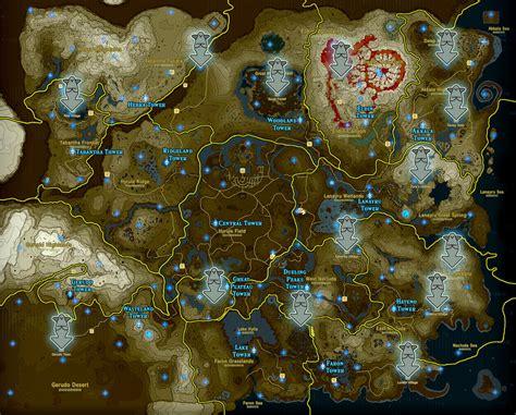 legend of zelda map location zelda breath of the wild guide goddess statue locations