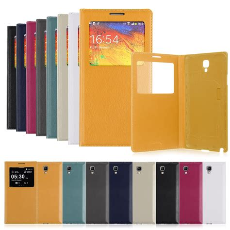 Batere Samsung Note 3 Neo Gr N750 Original 100 new leather battery view cover for samsung galaxy