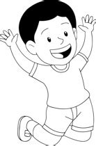 free black and white children outline clipart clip art