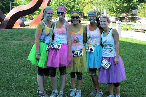 what to wear to a color run color run faq running in a skirt